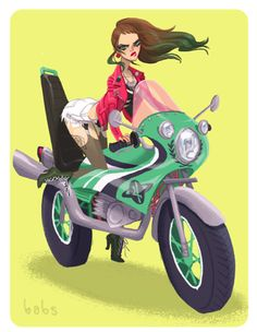 Bosozoku Jupiter by BabsDraws on Etsy, $15.00