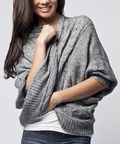 Take a look at this Sisters Rose Gray Wool-Blend Cardigan on zulily today!
