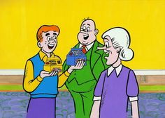 The Archies for Post Honey Combs Cereal TV Commercial Animation Cel 1970s