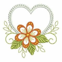 Heirloom Flower Adornment embroidery design