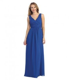 This elegant, simply classic gown features a ruched bodice and straps, complimented by a ruched empire waist.......Price - $78.00-rO6l3rqs