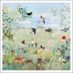 Country Life, greeting card by Lucy Grossmith.  The card is left blank inside for your own greeting.