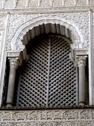 Moorish, Andalusian windows, tiles & floors - Arched  window with shutters/screen