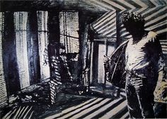 Notte Americana 1988 oil on canvas cm. Life Is Hard, Young Man, My Dream, Oil On Canvas, Pallet, To Go, Collage, Paris, Mirror