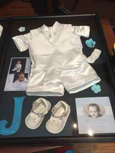 Christening outfit shadow box