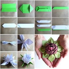 This origami lotus is fun and easy to make .Use your creations to decorate your room, gifts, or just to impress your friends! WONDERFUL ! :)  Picture & video tutorials--> http://wonderfuldiy.com/wonderful-diy-beautiful-origami-lotus-flower/