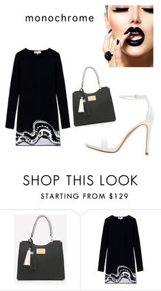 """""""Untitled #361"""" by mariaar ❤ liked on Polyvore featuring Emilio Pucci, Zara and monochrome"""