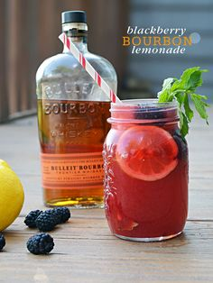 Blackberry Bourbon Lemonade Cocktail {Cocktail Friday} Blackberry Bourbon Lemonade
