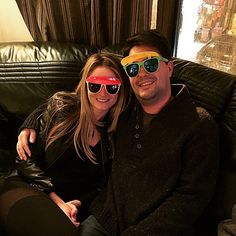 Novelty sunglasses. Visor sunglasses that are black light uv reactive. Great for concerts, parties, the beach, etc. $1 for each pair sold goes to brain cancer research