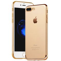 Coque Capa For iphone 6 6S Plus Case Plating Crystal Soft TPU Clear Thin Transparent Silicon Case for apple 7 Phone Cases Cover