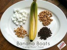 "Toddler Approved!: Banana Boats: ""Camp Mom"" Treat"