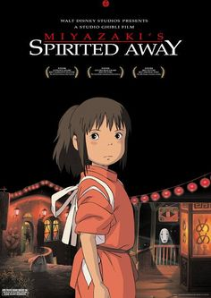 Top Ten Japanese Animation Movies of All Time: Spirited Away, written and directed by the great Hayao Miyazaki, was the first anime to win an Academy Award. It was released by Studio Ghibli, Inc., which was co-founded by Miyazaki and Isao Takahata. Spirited Away Movie, Spirited Away Poster, Miyazaki Spirited Away, Hayao Miyazaki, Great Films, Good Movies, Watch Movies, Amazing Movies, Film Watch