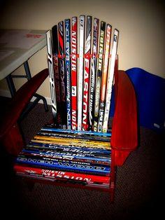 hockey stick chair christmas gift for my boyfriend hockey gifts hockey decor hockey