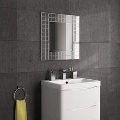600x600mm Mosaic Mirror [PT-MC152] - £69.99 : Platinum Taps & Bathrooms Basin Sink Bathroom, Sink Taps, Towel Radiator, Mirror Cabinets, Bathroom Furniture, Bathroom Accessories, Mirrors, Bathrooms, Mosaic