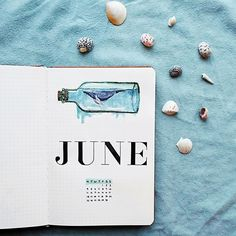 Ready for June? I went with a #nautical theme for this month and I'm so excited to see how well it work out. . . . . . #bujo #bujonewbie…