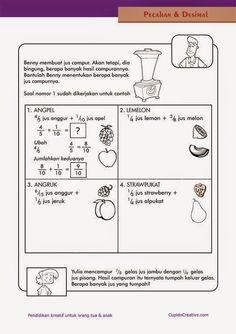 belajar penjumlahan pecahan/desimal untuk SD kelas 4 dengan soal cerita