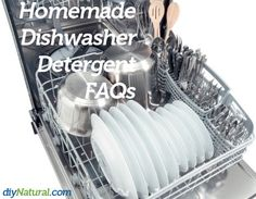 A FAQ page for our famous Homemade Dishwasher Detergent recipe!