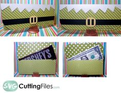 Elf Money Holder Money Holders, Card Holders, Diy Christmas Cards, Silhouette Cameo Projects, Craft Tutorials, Diy Cards, Craft Fairs, Cutting Files, Paper Crafts