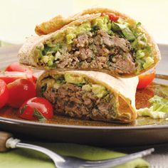 Southwestern Beef and Bean Burger Wraps | 15 Quick Fixes for Ground Beef | Quick & Easy Recipes | Food | Disney Family.com