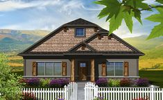 Captivating Ahmann Design Plan 41713 Features A Narrow Footprint With An Alley Load  Garage Allowing For Maximum Front Curb Appeal Thatu0027s Achieved With A  Combination Of ...