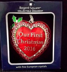 Regent Square OUR FIRST CHRISTMAS Collectible Ornament w/Fine European Crystal