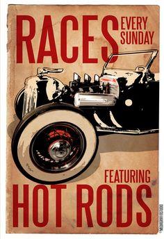 Vintage Hot Rod Races