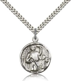 Sterling Silver Genesius Medal Pendant, St. Genesius, Patron Saints - G, Patron Saints, Jewelry by Bliss, Jewelry & Medals, Categories at HolyFamilyOnline.com