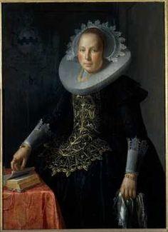 Portret van Antonetta Wtewael (1603-1655), echtgenote van Johan Pater, moeder van Aletta Pater   Centraal Museum Utrecht
