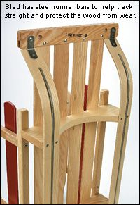 Child's Wooden Sled --Lee Valley