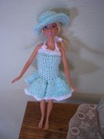 Crochet Barbie Hat  I have been working on several different possible patterns for a Barbie doll hat.  I was finally able to crochet thes...
