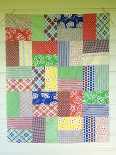 Nice Tutorials several nice quick quilts there. Two Little Banshees: Layer Cake Tutorial #3