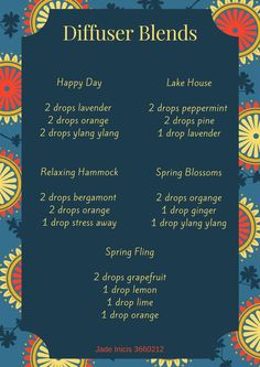 young living essential oil spring diffuser blends