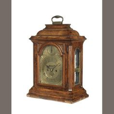 A 'John Ellicott' walnut bracket clock with pull quarter repeat Estimate