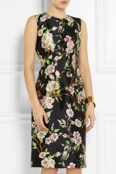 Dolce & Gabbana|Floral-print silk dress|NET-A-PORTER.COM