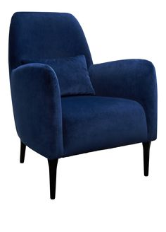 Daborn lenestol, marineblå velur - Habitat Norge Blue Armchair, Velvet Armchair, James Patterson, Sofa Cognac, Newport Cottages, Habitats, Sofas, Upholstery, Gray