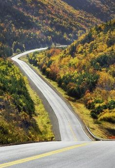 Road trip to Canada. Country Fences, Country Roads, Canada Eh, Toronto Canada, White Mountain National Forest, Atlantic Canada, Forest Path, Cape Breton, Winding Road