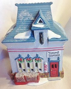 Department 56 Heritage Village North Pole Series Beard Barber Shop 1994