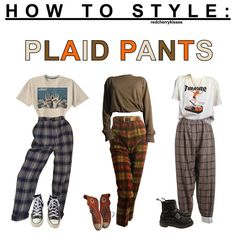 some of u asked for plaid pants here we go! enjoy guys :) - - some of u asked for plaid pants here we go! enjoy guys 🙂 – Source by wachenfeldl - Edgy Outfits, Retro Outfits, Grunge Outfits, Fall Outfits, Vintage Outfits, Hipster School Outfits, Plaid Fashion, 90s Fashion, Fashion Outfits