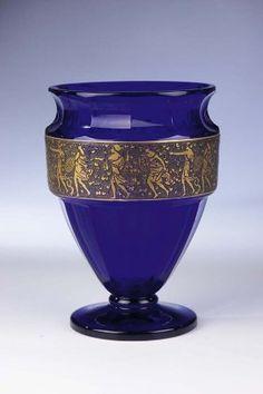 Vase Moser Karlsbad Glass Art Deco