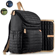 Diaper Bag Backpack- by MAMAN - with Matching Changing Pad and Stroller  Straps - Stylish Designer Travel Bag - for Mom and Dad 488796a0d