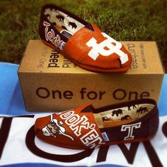 Custom Texas Longhorn TOMS! SOLD!!! Place your order at linds669@aol.com!