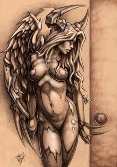 naked angel tattoo - Google zoeken More