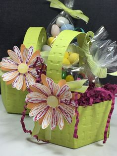 Easter Basket made with Window Box Thinlit