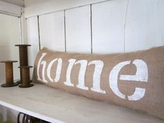 Burlap pillow home, shabby chic, farmhouse decor, burlap, cotton osnaburg back, frayed.