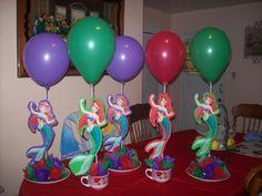 la sirenita decoracion para cumpleaños - Buscar con Google
