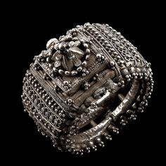 Silver Bracelet  with a magnificent centerpiece, Orissa, India, Circa 1910 ...