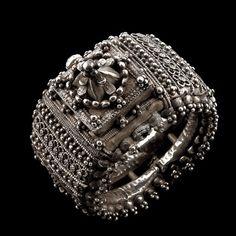 Silver Bracele  with a magnificent centrepiece, Orissa, India, Circa 1910 ...