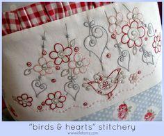 Jenny of Elefantz 'bird themed' stitcheries Embroidery Keka❤❤❤