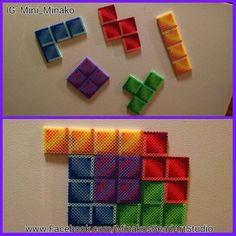 Tetris magnets perler beads  by mini_minako