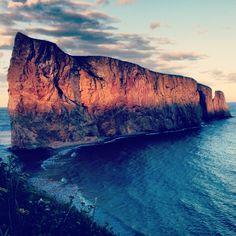 Rocher Percé en Gaspésie, région du Québec au CANADA